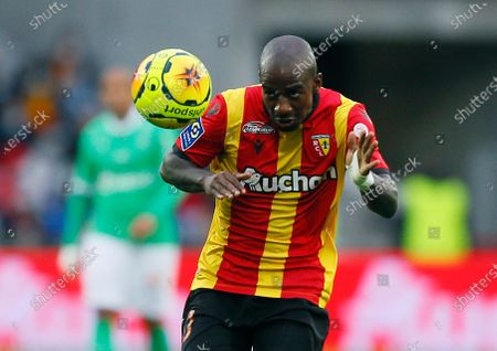 Lens' Gael Kakuta, controls the ball, during the French League One soccer match between Lens and AS Saint Etienne in Lens, northern France
