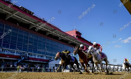 , 2020, Baltimore, MD, USA: Laki #4, ridden by jockey Horacio Karamanios, wins the Frank J. DeFrancis Memorial Dash during Preakness Stakes Day at Pimlico Race Course in Baltimore, Maryland. Scott Serio/Eclipse Sportswire/CSM