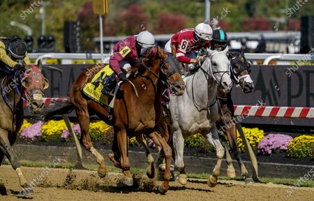 Editorial image of Horse Racing Preakness Stakes Day, Baltimore, USA - 03 Oct 2020