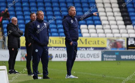 Peterborough United Manager Darren Ferguson issues instructions from the touchline