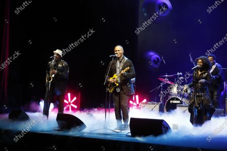 Stock Picture of Ray Parker Jr (C) performs during the Award Night ceremony at the 16th Zurich Film Festival (ZFF) in Zurich, Switzerland, 03 October 2020. The festival runs from 24 September to 04 October 2020.