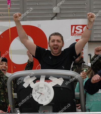 Editorial photo of Endurance athlete and ex-soldier Mike Buss world record attempt, Brunel Shopping Centre, Swindon, Britain - 14 Jan 2010