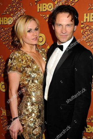 Stock Photo of Anna Paquin and Steven Moyer