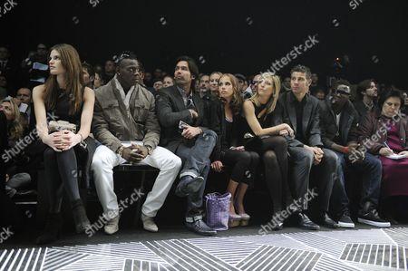 Alessia Piovan, Mario Balotelli, Brian Atwood, Allegra Versace, Manuela Toldo, Francesco Toldo, Muntari Sulley and Suzy Menkes