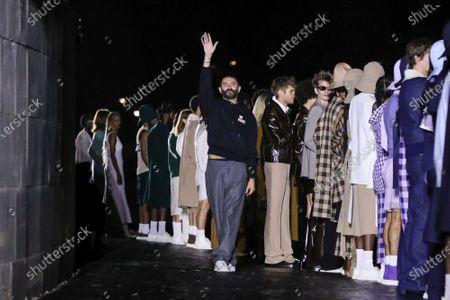 Stock Picture of Designer Alexandre Mattiussi on the catwalk