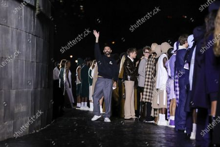 Stock Photo of Designer Alexandre Mattiussi on the catwalk