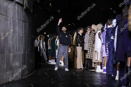 Designer Alexandre Mattiussi on the catwalk