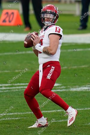 Editorial picture of NC State Football, Pittsburgh, United States - 03 Oct 2020