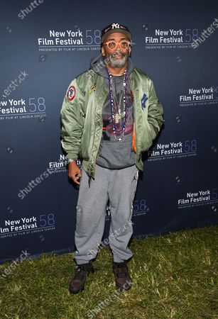 """Director Spike Lee attends the """"David Byrne's American Utopia"""" film screening at the Queens Drive-In at the New York Hall of Science during the 58th New York Film Festival, in New York"""