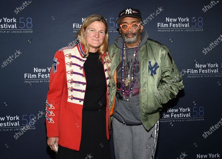 """Cinematographer Ellen Kuras, left, and director Spike Lee attend the """"David Byrne's American Utopia"""" screening at the Queens Drive-In at the New York Hall of Science during the 58th New York Film Festival, in New York"""