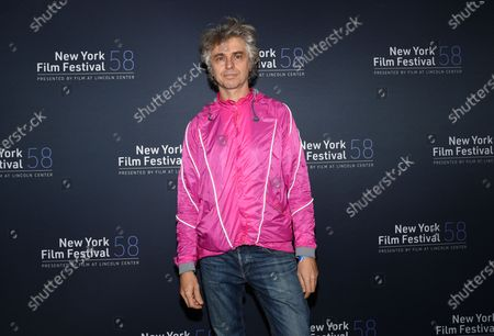"""Stock Photo of Musician Mauro Refosco attend the """"David Byrne's American Utopia"""" screening at the Queens Drive-In at the New York Hall of Science during the 58th New York Film Festival, in New York"""
