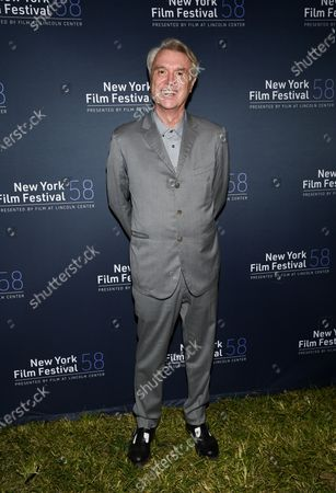 "Musician David Byrne attends the ""David Byrne's American Utopia"" film screening at the Queens Drive-In at the New York Hall of Science during the 58th New York Film Festival, in New York"