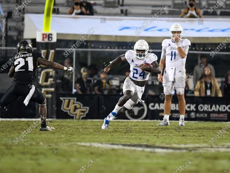 Orlando, FL, U.S: Tulsa Golden Hurricane running back Corey Taylor II (24) during 2nd half NCAA football game between the Tulsa Golden Hurricane and the UCF Knights. Tulsa defeated UCF 34-26 at the Bounce House in Orlando, FlCSM