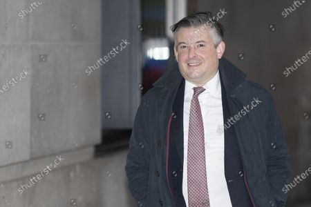 Stock Image of Shadow Health Secretary Jon Ashworth arrives at the BBC. Later he will appear on the Andrew Marr Show.
