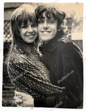 Folk Singer Donovan Leitch Pictured With His Bride-to-be Linda Lawrence At Her Parents Home In Windsor On Their Wedding Day.