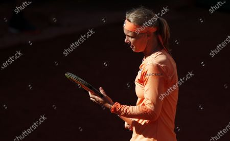 Kiki Bertens of the Netherlands during her fourth round match against Martina Trevisan of Italy during the French Open tennis tournament at Roland Garros in Paris, France, 04 October 2020.