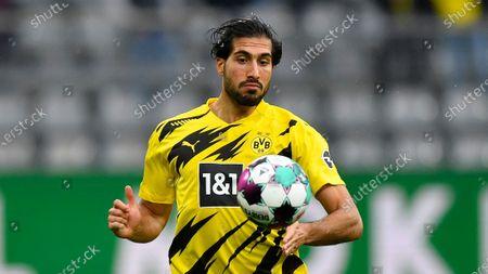 Dortmund's Emre Can plays during the German Bundesliga soccer match between Borussia Dortmund and SC Freiburg in Dortmund, Germany