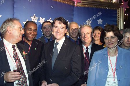 Stock Photo of Labour Party Conference 2000 Brighton. Peter Mandelson Made An Impassioned Speech Against Anti-gay And Racist Discrimination At A Fringe Meeting Organised By Gay Rights Group Stonewall. To Cheers From Gay Activists He Told The Meeting That Politicians Did Not Win Respect By Running Away From 'difficult Issues'. Pictured Here: Trevor Phillips (2nd Left) Peter Mandelson (centre) And Chris Smith (now Baron Smith Of Finsbury) (2nd Right). Lord Smith