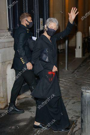 Editorial photo of Yohji Yamamoto show, Arrivals, Spring Summer 2021, Paris Fashion Week, France - 02 Oct 2020