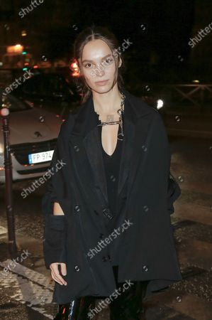 Editorial image of Yohji Yamamoto show, Arrivals, Spring Summer 2021, Paris Fashion Week, France - 02 Oct 2020