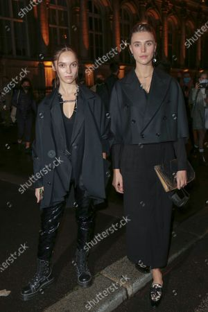 Stock Image of Lola Le Lann and Gaia Weiss