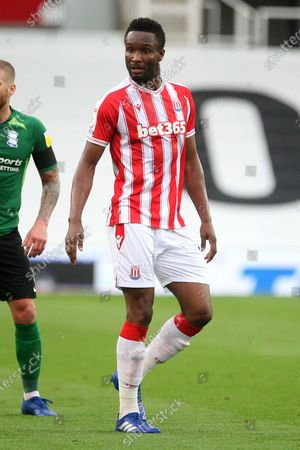 PORTRAIT STOKE CITY'S Mikel John Obi during the EFL Sky Bet Championship match between Stoke City and Birmingham City at the Bet365 Stadium, Stoke-on-Trent