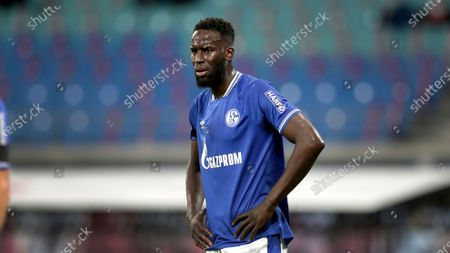 Schalke's Salif Sane during the German Bundesliga soccer match between RB Leipzig and FC Schalke 04 in Leipzig, Germany