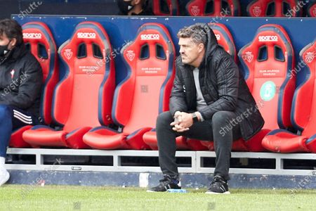 Oscar Garcia Junyent (coach; RC Celta) during the Spanish La Liga Santander match between CA Osasuna and RC Celta at the Sadar stadium. (Final score: CA Osasuna 2-0 RC Celta de Vigo)