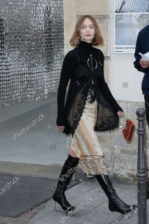 Editorial picture of Paco Rabanne show, Arrivals, Spring Summer 2021, Paris Fashion Week  - 04 Oct 2020