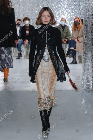 Editorial photo of Paco Rabanne show, Arrivals, Spring Summer 2021, Paris Fashion Week  - 04 Oct 2020