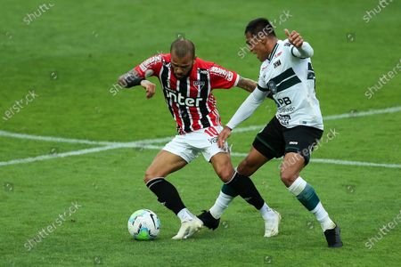 Stock Picture of Robson of Coritiba and Daniel Alves of Sao Paulo