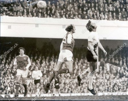 First Division Football Match - Arsenal V Liverpool At Highbury. Arsenal's Terry Mancini And Liverpool's John Toshack Go Up For The Ball During An Attack On The Home Goal.