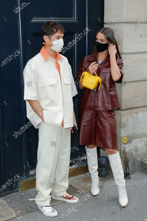 Stock Image of Jean Sebastien Roques and Alice Barbier