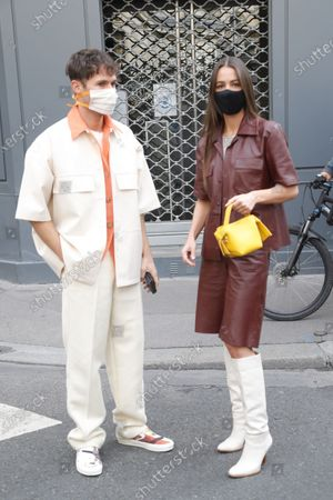 Stock Photo of Jean Sebastien Roques and Alice Barbier