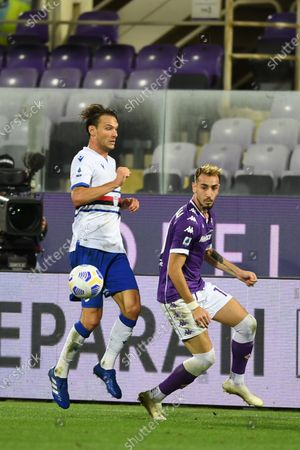 "Gaetano Castrovilli (Fiorentina)Albin Ekdal           during the Italian  Serie A"" match between Fiorentina 1-2 Sampdoria  at  Artemio Franchi Stadium   on October 02 , 2020 in Florence, Italy."