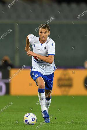 "Albin Ekdal           during the Italian  Serie A"" match between Fiorentina 1-2 Sampdoria  at  Artemio Franchi Stadium   on October 02 , 2020 in Florence, Italy."