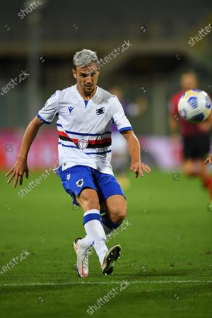 "Valerio Verre (Sampdoria)     he scored the second goal for his team   during the Italian  Serie A"" match between Fiorentina 1-2 Sampdoria  at  Artemio Franchi Stadium   on October 02 , 2020 in Florence, Italy."