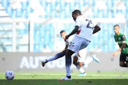 "Simy Simeon Tochukwu Nwankwo (Crotone)   he scored the first goal for his team        during the Italian  Serie A"" match between Sassuolo 4-1 Crotone  at  Mapei Stadium   on October 02 , 2020 in Reggio Emilia, Italy."