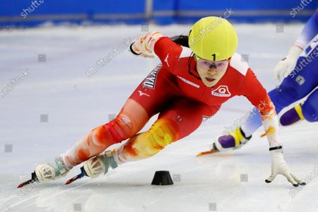 Sumire Kikuchi - Short Track Skating :  The 31st All Japan Single Distances Short Track Speed Skating Championships  Women's 500m A final  at Teisan ice skating training center in Nagano, Japan.