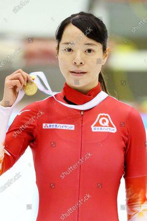 Sumire Kikuchi - Short Track Skating :  The 31st All Japan Single Distances Short Track Speed Skating Championships  Women's 500m Award Ceremony  at Teisan ice skating training center in Nagano, Japan.