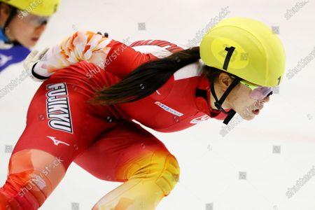 Sumire Kikuchi - Short Track Skating :  The 31st All Japan Single Distances Short Track Speed Skating Championships  Women's 1000m A final  at Teisan ice skating training center in Nagano, Japan.