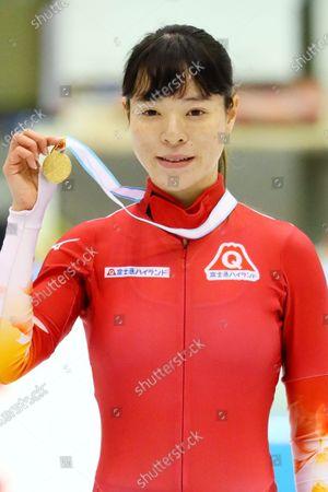 Sumire Kikuchi - Short Track Skating :  The 31st All Japan Single Distances Short Track Speed Skating Championships  Women's 1000m Award Ceremony  at Teisan ice skating training center in Nagano, Japan.