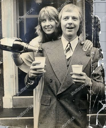Editorial image of Tim Rice And His Bride Jane Mcintosh Outside Kensington Registry Office They Divorced In Aug 1990.