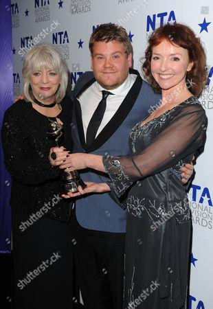 Alison Steadman, James Corden and Melanie Walters