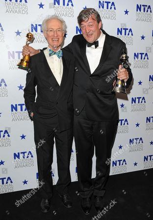 Bamber Gascoigne and Stephen Fry