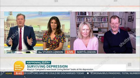Stock Image of Piers Morgan, Susanna Reid, Fiona Miller, Alastair Campbell