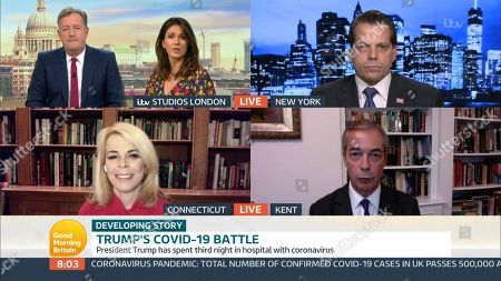 Stock Picture of Piers Morgan, Susanna Reid, Anthony Scaramucci, Dr. Betsy McCaughey, Nigel Farage