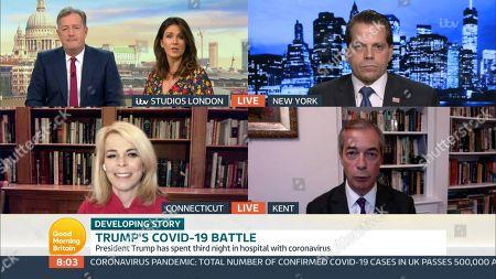 Piers Morgan, Susanna Reid, Anthony Scaramucci, Dr. Betsy McCaughey, Nigel Farage