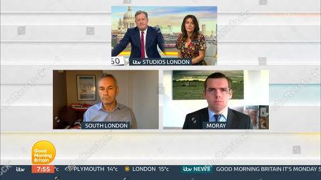 Piers Morgan, Susanna Reid, Kevin Maguire Douglas Ross