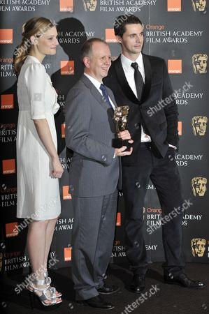 Romola Garai, BAFTA chairman David Parfitt and Matthew Goode
